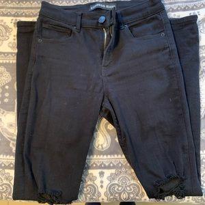 Express Black high rise jean leggings